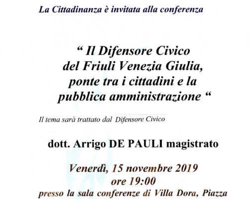Il Difensore Civico del Friuli Venezia Giulia