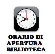 Orario di apertura della Biblioteca